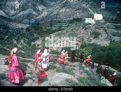 Easter Celebration, Olymbos, Karpathos, Greece - Stock Photo