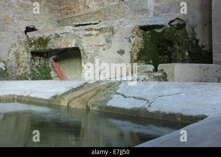 The old pump and wash house in Barbirey Sur Ouche, near Dijon Côte-d'Or department Eastern France - Stock Photo