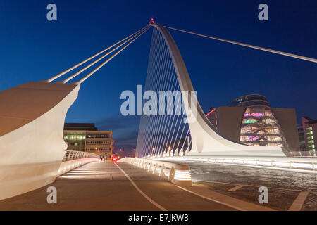 Samuel Beckett bridge Dublin Ireland over the River Liffey - Stock Photo