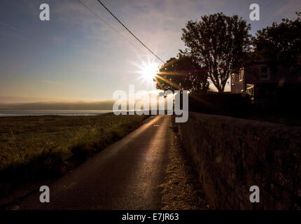 Hadrian's Wall Path National Trail: Port Carlisle, Solway Firth, Cumbria - Stock Photo