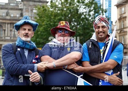 Scottish Independence Referendum Yes Supporters, Scotland, UK - Stock Photo