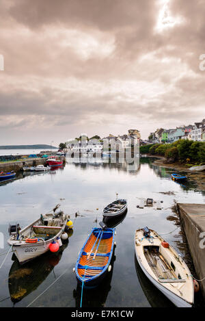 The picturesque harbour of Roundstone, Connemara, County Galway, Republic of Ireland - Stock Photo