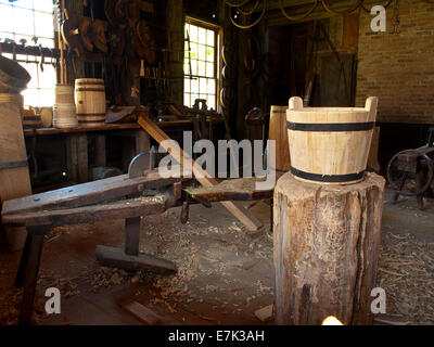 old woodworking shop - Stock Photo