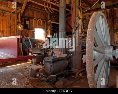old wagon repair shop - Stock Photo
