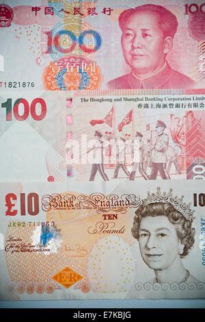 World globe, currencies, dollar, pound, euro and yen Stock Photo: 88234828 - Alamy