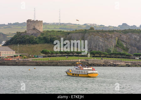 The Mount Batten Ferry crossing The Sound in Plymouth, Devon, England, UK - Stock Photo