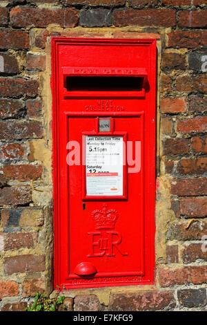 Mail box on wall, Church Street, Chesham, Buckinghamshire, England, United Kingdom - Stock Photo