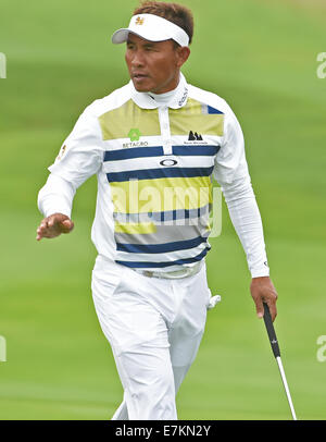 Newport, Wales. 20th Sep, 2014. ISPS Handa Wales Open Golf. Day 3. Thongchai Jaidee of Thailand Credit:  Action - Stock Photo