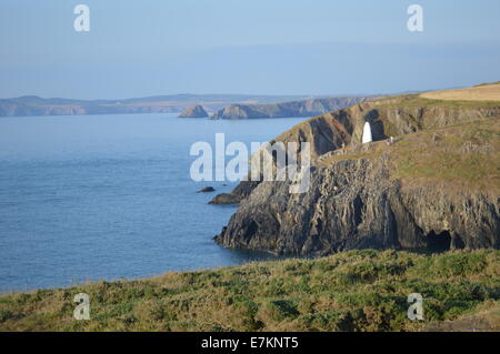 West Wales fishing village of Porthgain in the Pembrokeshire National Park. - Stock Photo