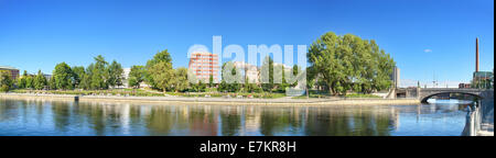 Panorama of River Tamerfors, Tampere Finland. - Stock Photo