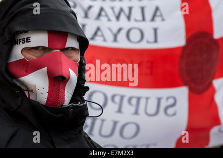 London, UK. 20th Sept, 2014.  English Defence League protest march and rally 2014 Credit:  Guy Corbishley/Alamy - Stock Photo