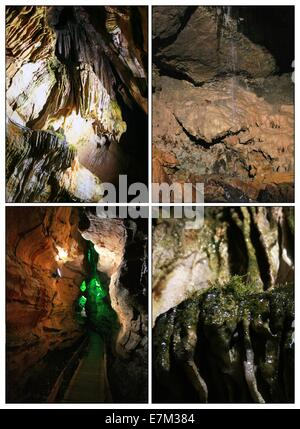 The Cal cave in Trabzon,Turkey-Collage - Stock Photo