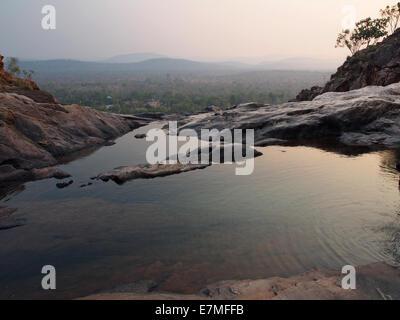 Infinity pool at Gunlom (Waterfall Creek), Kakadu National Park, Northern Territory, Australia - Stock Photo
