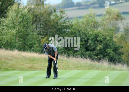 ISPS Handa Wales Open Golf final day at the Celtic Manor Resort in Newport, UK. : Lee Westwood of England on the - Stock Photo