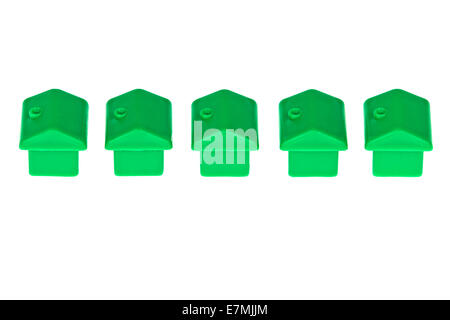 Detached Toy Monopoly Houses - Stock Photo