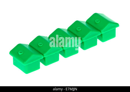 Diagonal Toy Monopoly Houses - Stock Photo