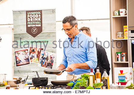 Liverpool, UK. 21st September  2014. Liverpool's 7th Food and Drink Festival in Sefton Park, Liverpool, England - Stock Photo