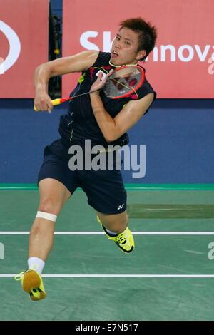 Incheon, South Korea. 21st Sep, 2014. Kenichi Tago (JPN) Badminton : Men's Team Round 2 at Gyeyang Gymnasium during - Stock Photo