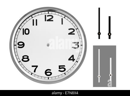 Clock face with hands - Stock Photo