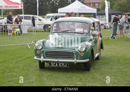 Morris Minor traveller 1998cc 1970 estate at the St Christopher's Hospice Classic Car Show which took place in Orpington, - Stock Photo