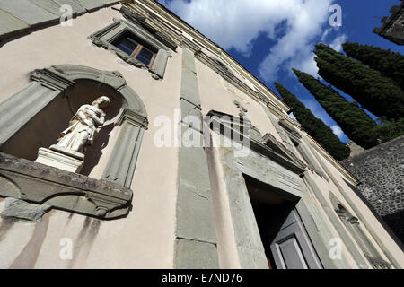 Barga, Tuscany, Italy, sightseeing, place of interest, worship, medieval town, holiday, weekend retreat, Roman Architecture - Stock Photo