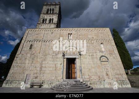 Duomo di San Cristoforo, Barga, Tuscany,, sightseeing, place of interest, worship, medieval town, holiday, Roman - Stock Photo