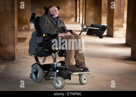 Professor Stephen Hawking at the Premier of the biopic of his life, 'Hawking' - Stock Photo