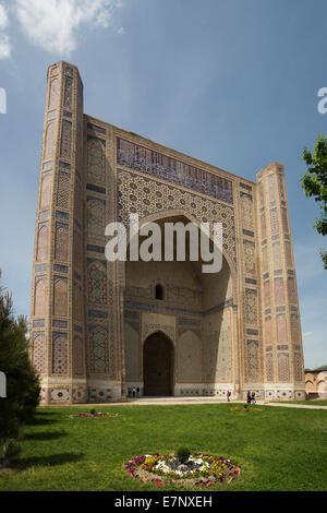 world heritage, Bibi Khanum, Samarkand, City, Uzbekistan, Central Asia, Asia, architecture, colourful, history, - Stock Photo