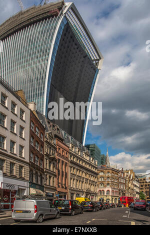 Cannon street, London, England, The City, UK, architecture, street, tourism, travel, weird - Stock Photo