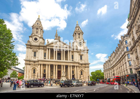 Avenue, Building, Cathedral, City, London, England, St. Paul, UK, architecture, history, religion, tourism, travel - Stock Photo