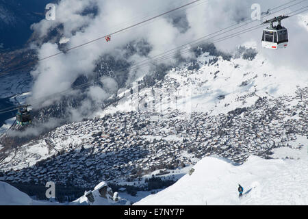 Winter, Verbier, Grand Combin, winter, canton, VS, Valais, mountain, mountains, hut, house, alpine cabin, village, - Stock Photo
