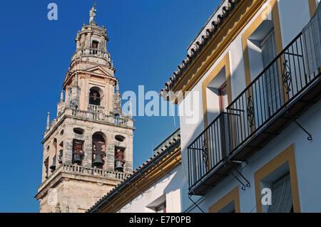 Bell tower Mezquita Cordoba Andalusia Spain - Stock Photo