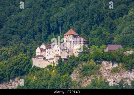 Liechtenstein, Europe, Vaduz, architecture, castle, city, famous, landscape, spring, touristic, travel - Stock Photo