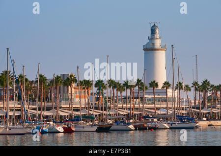 Paseo de la Farola Malaga Andalusia Spain - Stock Photo