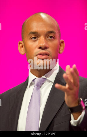 Manchester, UK. 22nd  September, 2014.  Chuka Umunna, Shadow Secretary of State for Business, Innovation and Skills, - Stock Photo