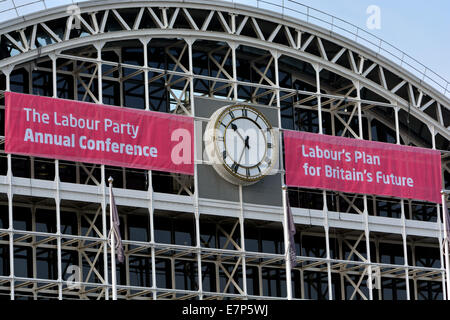 Manchester  UK  22nd September 2014 Manchester Central (formerly GMEX) is the centre for The Labour Party Conference - Stock Photo