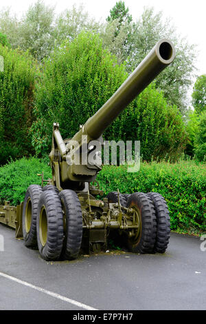 Artillery machinery Normandy France WWII Europe - Stock Photo