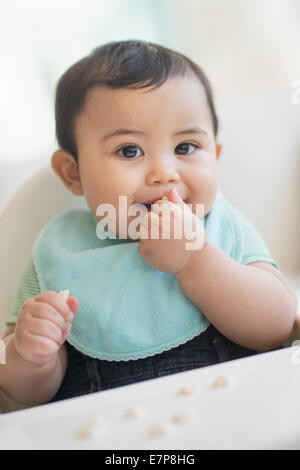 Portrait of baby boy (6-11 months) - Stock Photo