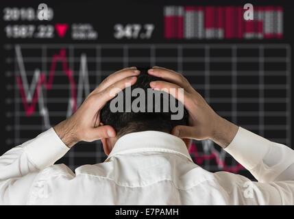 broker business stock market crash global crisis - Stock Photo