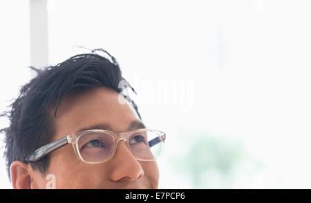 Portrait of man contemplating - Stock Photo