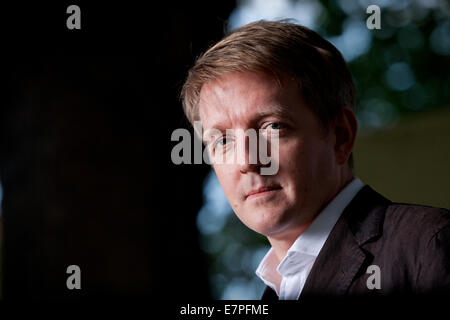 John-Paul Stonard, critic and art historian, at the Edinburgh International Book Festival 2014. - Stock Photo