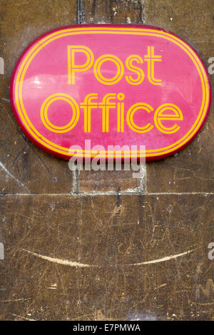 Post Office sign on a wall - Stock Photo