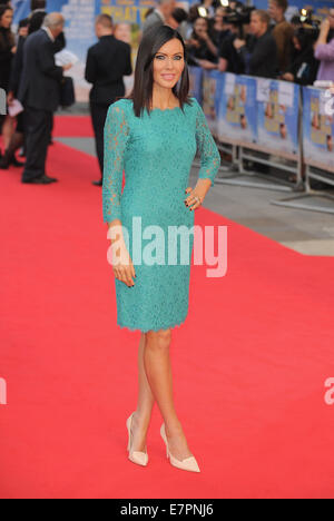 London, UK, UK. 22nd Sep, 2014. Linzi Stoppard attends UK premiere of 'What We Did On Our Holiday' at Odeon West - Stock Photo