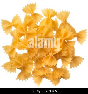 Italian raw pasta farfalle, bow tie, butterfly - Stock Photo