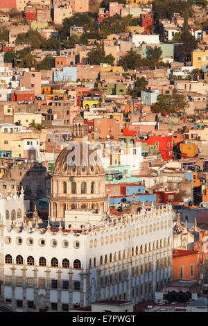 Dome and University in the colorful city of Guanajuato, Mexico. - Stock Photo