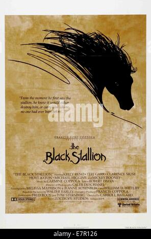 The Black Stallion  Year : 1979 USA Director : Carroll Ballard Movie poster (USA) - Stock Photo
