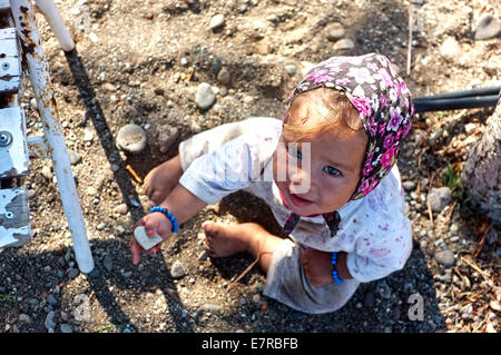 Baby village girl - Stock Photo