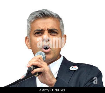 Sadiq Khan MP (Labour, Tooting) Shadow Secretary of State for Justice, 2014 - Stock Photo