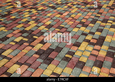Background color tiles. Colored tiles on the square - Stock Photo