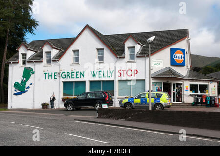 The Green Welly Stop in Tyndrum, Scotland. - Stock Photo
